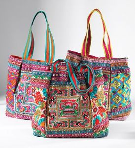 Bag~ Hippy Bohemian Assorted Colour Indian Large Ari Embroidered Shoulder Bag~ By Folio Gothic Hippy SB173